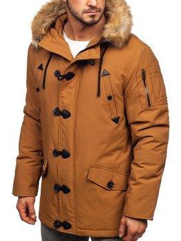 Мужская зимняя куртка парка кэмел Bolf 1971