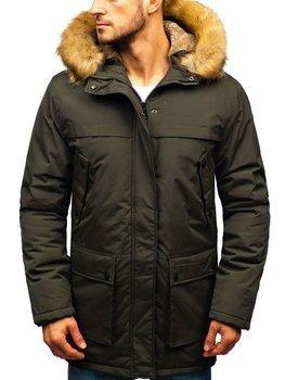 Мужская зимняя куртка парка хаки Bolf R105
