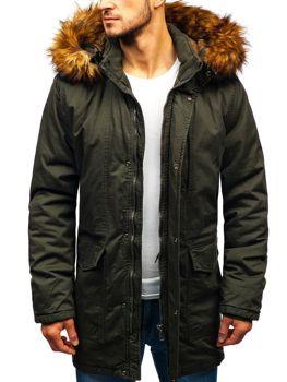 Мужская зимняя куртка парка хаки Bolf R109