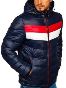 Мужская зимняя куртка темно-синяя Bolf 5847