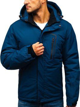 Мужская зимняя лыжная куртка темно-синяя Bolf HZ8107