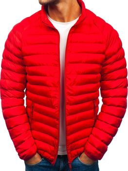 Мужская зимняя спортивная куртка красная Bolf SM53-A