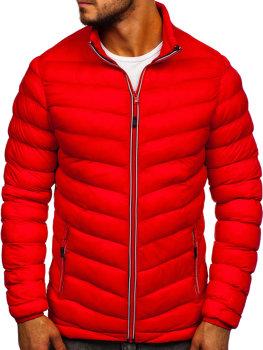 Мужская зимняя спортивная куртка красная Bolf SM71