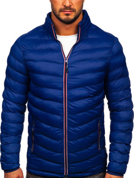 Мужская зимняя спортивная куртка темно-синяя Bolf SM71