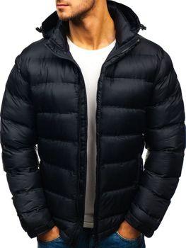 Мужская зимняя спортивная куртка черная Bolf AB63