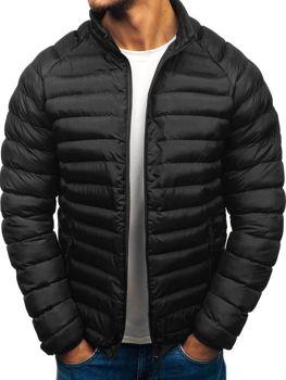 Мужская зимняя спортивная куртка черная Bolf SM53-A 3ed8583400a18