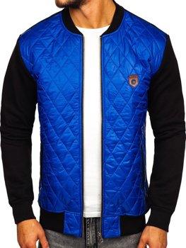 Мужская куртка-бомбер синий Bolf 2569-2