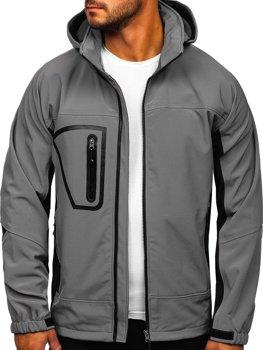 Мужская куртка софтшелл серая Bolf T019