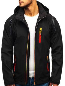 Мужская куртка софтшелл черная Bolf ZS202-A