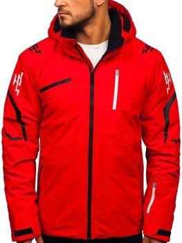 Мужская лыжная куртка красная Bolf 5941