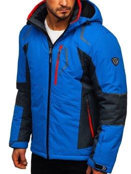 Мужская лыжная куртка синяя Bolf BK085