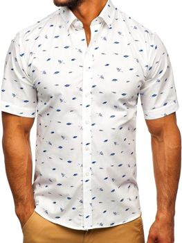Мужская рубашка с узором с коротким рукавом мультиколор-2  Bolf TSK101