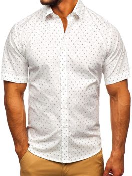 Мужская рубашка с узором с коротким рукавом мультиколор Bolf TSK101