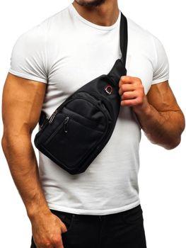 Мужская сумка почтальонка черная Bolf T50