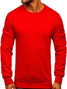 Мужская толстовка без капюшона красная Bolf 2001