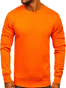 Мужская толстовка без капюшона оранжевая Bolf 2001