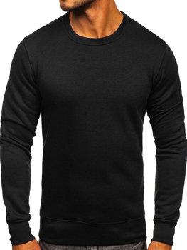 Мужская толстовка без капюшона черная Bolf 2001