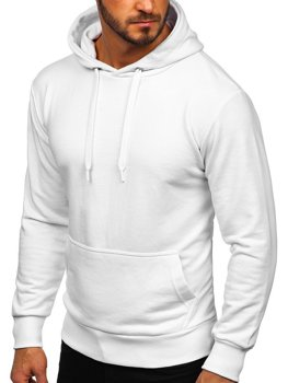 Мужская толстовка с капюшоном белая Bolf 1004