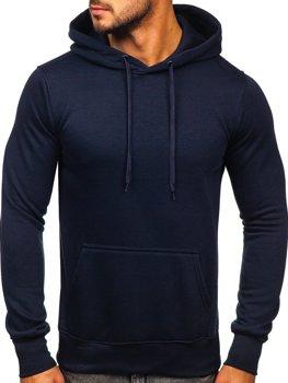 Мужская толстовка с капюшоном чернильного цвета Bolf 2009