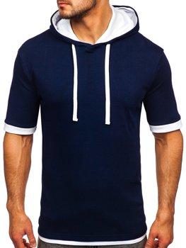 Мужская футболка без принта темно-синяя Bolf 08