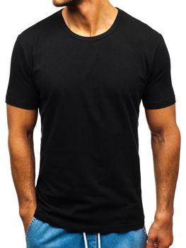 Мужская футболка без принта черная Bolf T1280