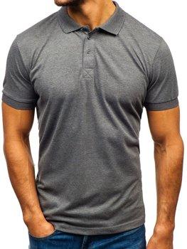 Мужская футболка поло антрацитовая Bolf 171221
