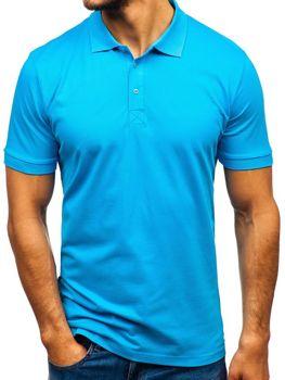 Мужская футболка поло бирюзовая Bolf 171221