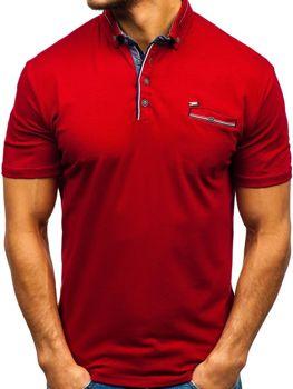 Мужская футболка поло бордовая Bolf 192037