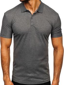 Мужская футболка поло графитовая Bolf GD01