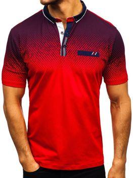 Мужская футболка поло красная Bolf 6599