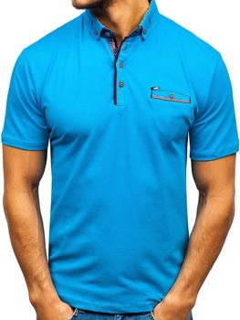 Мужская футболка поло синяя Bolf 192037