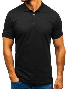 Мужская футболка поло черная Bolf 9025