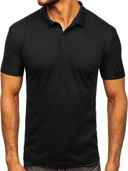 Мужская футболка поло черная Bolf GD01