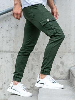 Мужские брюки джоггеры зеленые Bolf 2039-1