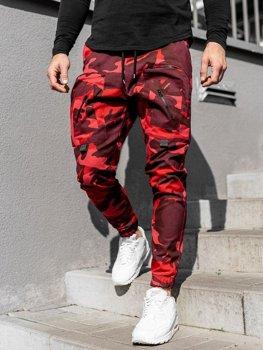 Мужские брюки джоггеры красные Bolf 0956