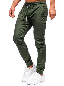 Мужские брюки джоггеры темно-зеленые Bolf KA951