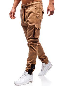 Мужские брюки джогеры карго кэмел Bolf 0705