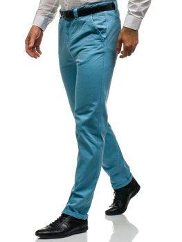 Мужские брюки чиносы голубые Bolf 6188