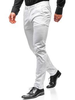 Мужские брюки чинос белые Bolf 2901