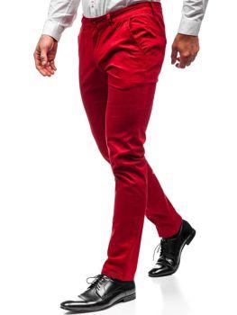 Мужские брюки чинос красные Bolf 2901