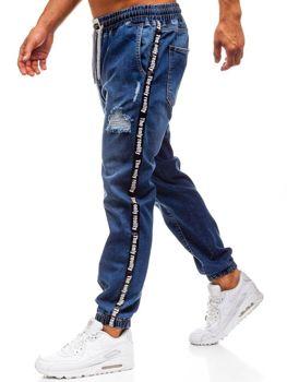Мужские джинсовые брюки багги темно-синие Bolf 2045