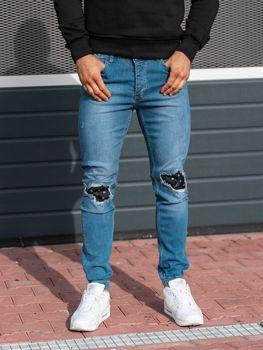 Мужские джинсовые брюки джоггеры синие Bolf 2044-1