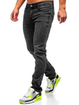Мужские  джинсовые брюки straight leg черные Bolf KA1063