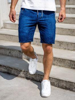 Мужские джинсовые шорты темно-синие Bolf 5785