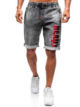 Мужские джинсовые шорты черные Bolf HY323