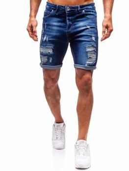 Мужские джинсовы шорты темно-синие Bolf 1061
