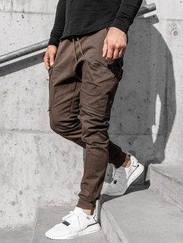 Мужские джоггеры карго коричневые Bolf 0475