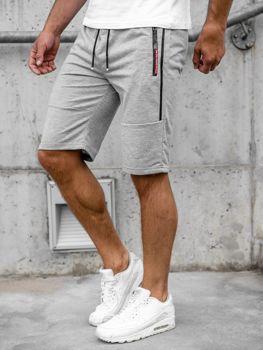 Мужские серые спортивные шорты Bolf JX366