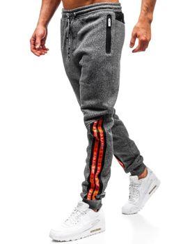 Мужские спортивные брюки графитовые Bolf Q3869
