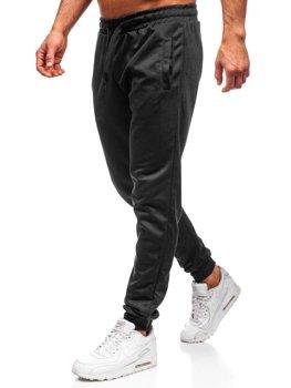 Мужские спортивные брюки черные Bolf JZ11001